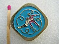 Vintage Badge Sign Figure skating pin USSR