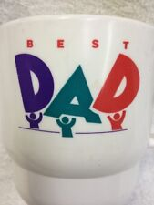 Tupperware Coffee Mug Cup BEST DAD White With Handle 2224 Retro 90s