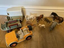 More details for schleich bundle horses unicorn rhino donkey tiger - spares for cars/trailers