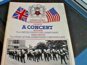 Hampshire Constabulary Band / US 76th Army Band - 1984 Concert Programme