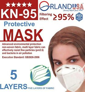 KN95 Protective 5 Layers Face Mask BFE 95% PM2.5 Disposable Masks 10-100 PCS