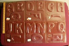 Lot of 9 Wilton Candy Chocolate Alphabet Letter Molds A thru Z