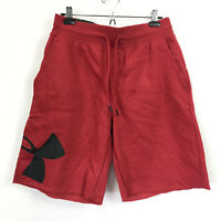 "Under Armour Mens Large Shorts Red Rival Fleece Logo Heatgear NWT 39 10"" Inseam"