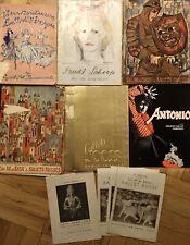 Lot 10 Vintage Ballet programs-Ballets Russes,Trudi Schoop, Jooss, Antonio-1930s