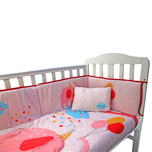 Complete Baby Nursery Cot Bedding Bumper Set Fitted Pillow Sheet Bed Party Duvet