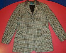 Lauren Ralph Lauren Womens 12 Houndstooth Tweed Wool Equestrian Blazer Jacket