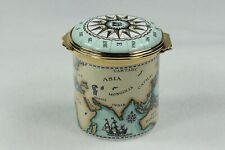New ListingVintage Halcyon Days Enameled Trinket Box Pill Box Nautical Compass Rose #14
