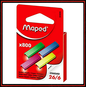 Maped Coloured Staples 26 6, box of 800