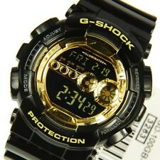 GD-100GB-1 Gold Black Casio Mens G-SHOCK 200M Sport Watch Digital Resin Band