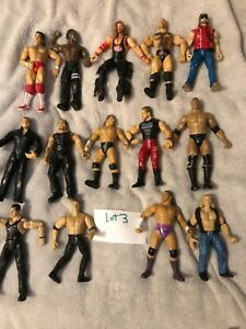 "WWE Wrestling Figurines - 1990's & 2000's Jakks Pacific 7"" Lot of 14"
