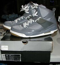 Air Jordan Flight 45 Size 11.5 High Tops Shoes Gray/White w/Box 384519-001