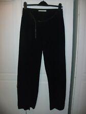 KAREN MILLEN BLACK WIDE LEG 8 wool blend SMART PARTY  TROUSERS  chain detail