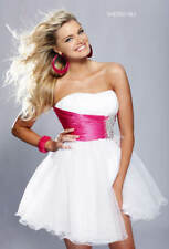 Sherri Hill 1002 pink white crystal sparkly prom cocktail party formal dress 12