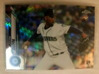 2020 Topps Chrome Prism Refractor Justin Dunn Rookie RC #136 Seattle Mariners