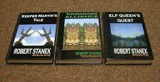 ROBERT STANEK  3 hc bks  SERIES:  KEEPER MARTIN'S TALE,  ELF QUEEN'S QUEST, KING
