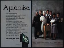 1986 HOLIDAY INN Hotel - A Promise Campaign - Maid - Chef - Waitress- VINTAGE AD