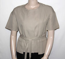 NEW By Thuy D. Size LARGE Short Sleeve Jacket with Self Belt KHAKI