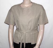 NEW By Thuy D. Size LARGE Short Sleeve Jacket with Self Belt KHAKI