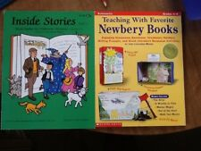 2 books Inside Stories Study Guide & Teaching with Favorite Newbery Books gr 4-