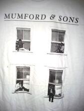 MUMFORD & SONS T-SHIRT (M, L) WHITE WINDOWS NEW WITHOUT TAGS GILDAN SOFTSTYLE.