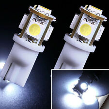 2x 7000K Cool White 5 SMD T10 168 194 2825 LED Bulbs For License Plate Lights US