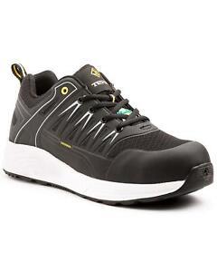 Terra Men's  Black/White Rebound Slip Resistant Athletic Sneaker Composite Toe -