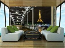 Bridge-Eiffel Tower  Wall Mural Photo Wallpaper GIANT WALL DECOR Paper Poster