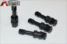 4 X Bolt On Black Aluminum Valve Stems With Dust Caps Set For Eclipse Camry