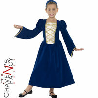 Tudor Princess Costume Girls Book Week Fancy Dress Medieval Queen Outfit