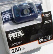 Petzl Stirnlampe Tikkina, Blue, 250 Lumen, Kopflampe, Headlight, Kopf-Leuchte