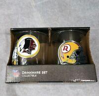Washington Redskins NFL Collectable Drink Glasses NEW