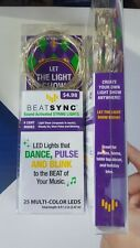 Mardi Gras Carnival LED RICE SEED Party Lights String of 25 Battery Operated HTF