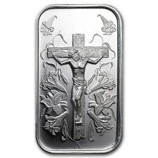 1 oz Silberbarren 999 Silver Silber Jesus am Kreuz Geschenk Taufe Konfirmation