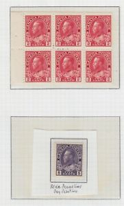 1911 - 1925 CANADA ISSUE KING GEORGE V BOOKLET - THIN , H, NH  SCOTT 106a 112c