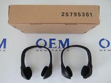 2005-2012 GM Chevy REAR ENTERTAINMENT HEADSETS HEADPHONES TV DVD 15136091