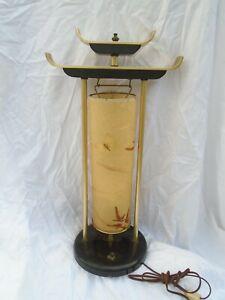 Asian Table Lamp Pagoda Hollywood Regency Palm Beach Tibetan Japanese Chinese