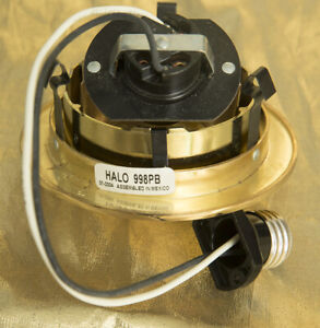 Halo 998 4 in. Polished Brass Finish Recessed Lighting Adj Eyeball Trim 6 units