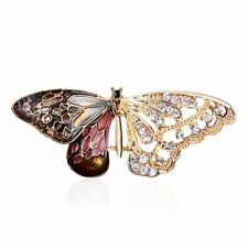 Women Hollow Rhinestone Butterfly Animal Brooch Pin Party Costume Jewelry Gift