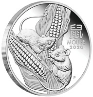 2020 Australia PROOF Lunar Year of the Mouse 1oz Silver $1 Coin Series3
