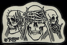 Skull patch Roth '67 See Hear Speak No Evil Hot Rod Motorcycle chopper