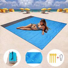 "ZMZTec Sand Free Beach Blanket 82""x79"" Beach mat Waterproof and Sand Proof, and"
