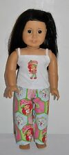 AMERICAN MADE DOLL CLOTHES FOR AMERICAN GIRL DOLLS DRESS LOT-STRAWBERRY  PJS