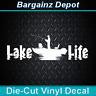 Vinyl Decal.. LAKE LIFE.. Fishing Boat Bass Fisherman Fish Car Truck SUV Sticker