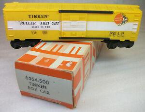 LIONEL POSTWAR LATE 6464-500 TIMKEN BOX CAR C-10 UNRUN HAGERSTOWN ORIGINAL BOX