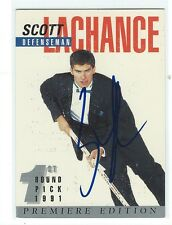 Scott Lachance 1991-92 Arena Draft Signed Pre Rookie Card #3