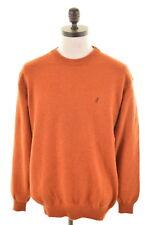MARLBORO CLASSICS Mens Crew Neck Jumper Sweater XL Orange Wool