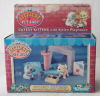 RARE VINTAGE 1992 LITTLEST PETSHOP CUTESY KITTENS & MOUSE KENNER NEW NOS !