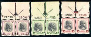 USAstamps Unused VF US $1-5 Presidential Arrow Set Scott 832, 833, 834 OG MNH