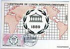 Yt 1700 UNION INTERPARLEMENTAIRE    MONACO    CARTE MAXIMUM 1° JOUR FCP