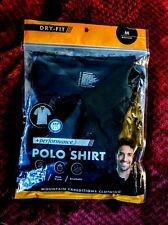 Mountain expeditions clothing POLO SHIRT + performance SIZE M dry fit,black NEW